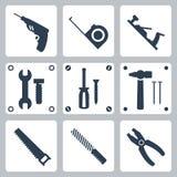 Ícones das ferramentas do vetor ajustados Fotografia de Stock Royalty Free