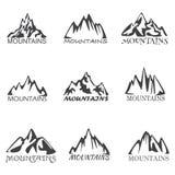 Ícones das montanhas Fotos de Stock Royalty Free
