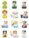 Ícones das ocupações Imagens de Stock Royalty Free