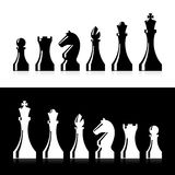 Ícones das partes de xadrez ilustração do vetor