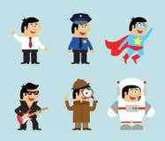 Ícones das profissões ajustados Imagens de Stock Royalty Free