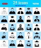 Ícones das profissões ajustados para a Web e o móbil Fotografia de Stock