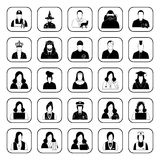 Ícones das profissões ajustados para a Web e o móbil Imagens de Stock Royalty Free