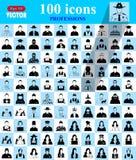 Ícones das profissões ajustados para a Web e o móbil Imagem de Stock Royalty Free
