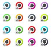 ícones das silhuetas da mulher ajustados imagens de stock royalty free