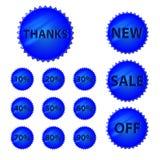 Ícones das vendas Fotografia de Stock