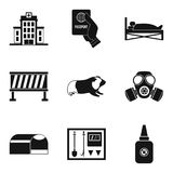 Ícones de ajuda ajustados, estilo simples ilustração royalty free