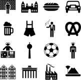 Ícones de Alemanha ilustração stock