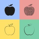 Ícones de Apple Fotos de Stock Royalty Free