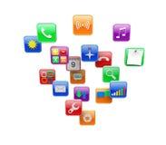 Ícones de Apps ilustração stock
