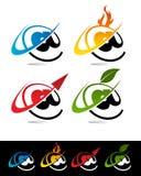 Ícones de Aroba do Swoosh Fotos de Stock Royalty Free