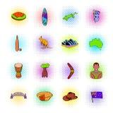 Ícones de Austrália ajustados Fotografia de Stock Royalty Free