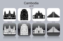 Ícones de Camboja ilustração do vetor