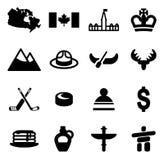 Ícones de Canadá ilustração do vetor