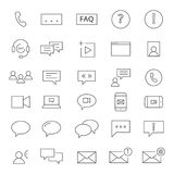 30 ícones de Chating Imagens de Stock
