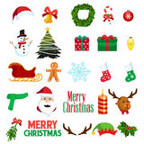 Ícones de Clipart do inverno do Natal Fotografia de Stock