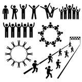 Ícones de Cliparts do bem-estar da comunidade dos povos Imagens de Stock
