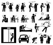 Ícones de Cliparts dos fumadores Imagens de Stock