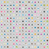 240 ícones de compra ajustados, incluem ícones do dinheiro Fotos de Stock Royalty Free