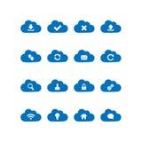 Ícones de computação da nuvem Imagem de Stock