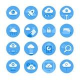 Ícones de computação da nuvem Fotos de Stock Royalty Free