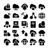 Ícones de computação 2 do vetor da nuvem Fotos de Stock