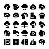 Ícones de computação 4 do vetor da nuvem Imagens de Stock