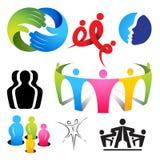 Ícones de conexão dos povos ilustração stock