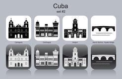 Ícones de Cuba Fotografia de Stock Royalty Free