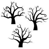 Ícones de Dia das Bruxas/absolutamente árvore Fotografia de Stock Royalty Free