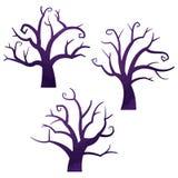 Ícones de Dia das Bruxas/absolutamente árvore Foto de Stock