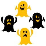 Ícones de Dia das Bruxas/fantasma Fotografia de Stock