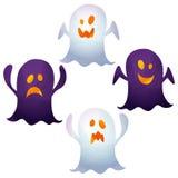 Ícones de Dia das Bruxas/fantasma Imagem de Stock Royalty Free