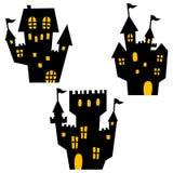 Ícones de Dia das Bruxas/mansão assombrada Foto de Stock
