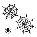 Ícones de Dia das Bruxas/Web de aranha Foto de Stock Royalty Free