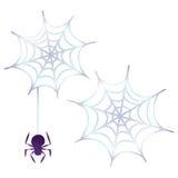 Ícones de Dia das Bruxas/Web de aranha Imagens de Stock