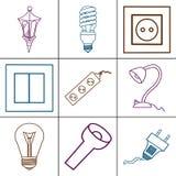 Ícones de dispositivos bondes diferentes Fotografia de Stock