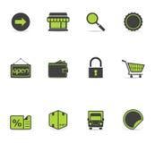 Ícones de Duotone - mais comércio electrónico Imagem de Stock Royalty Free