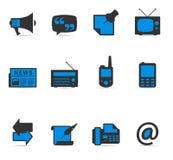 Ícones de Duotone - mais comunicação Imagem de Stock