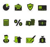 Ícones de Duotone - mais finança Imagem de Stock