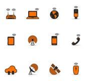 Ícones de Duotone - mundo sem fio Imagem de Stock