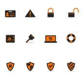 Ícones de Duotone - segurança Imagem de Stock