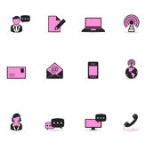 Ícones de Duotone - uma comunicação Fotografia de Stock