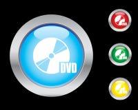 Ícones de DVD ilustração stock