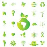 Ícones de Eco Fotos de Stock