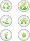 Ícones de Eco Fotografia de Stock Royalty Free