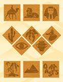 Ícones de Egipto ilustração royalty free