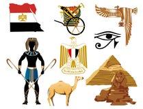 Ícones de Egipto ilustração stock