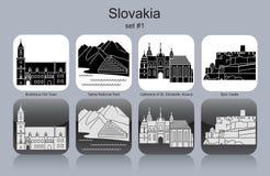 Ícones de Eslováquia Fotos de Stock Royalty Free