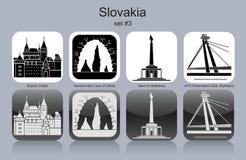 Ícones de Eslováquia Fotografia de Stock